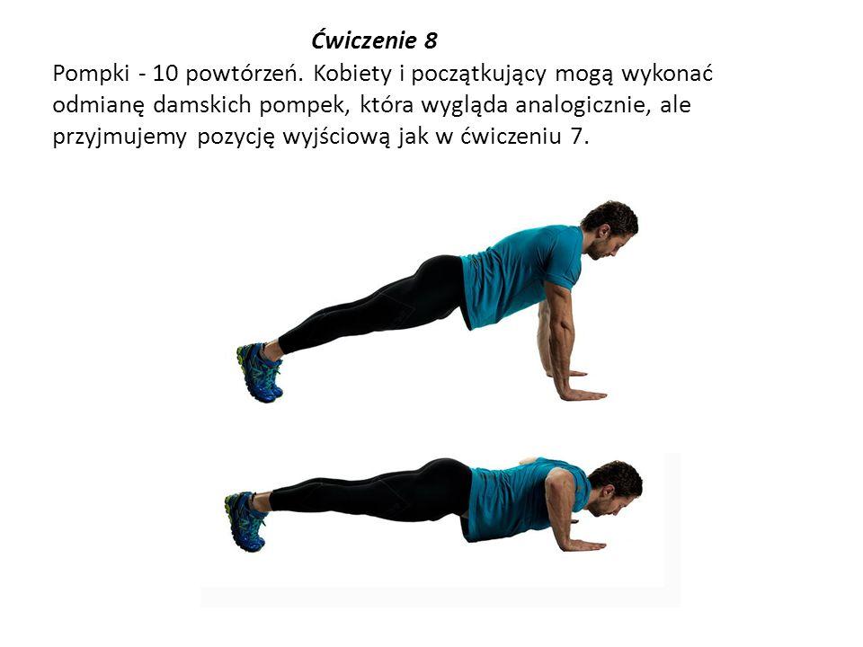 Ćwiczenie 8 Pompki - 10 powtórzeń
