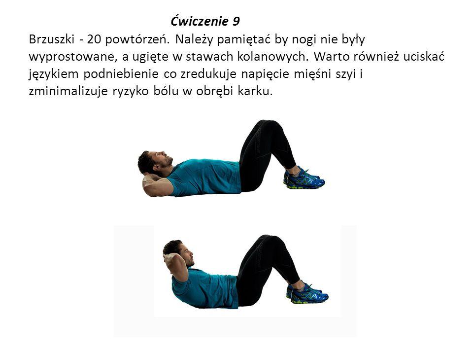 Ćwiczenie 9 Brzuszki - 20 powtórzeń