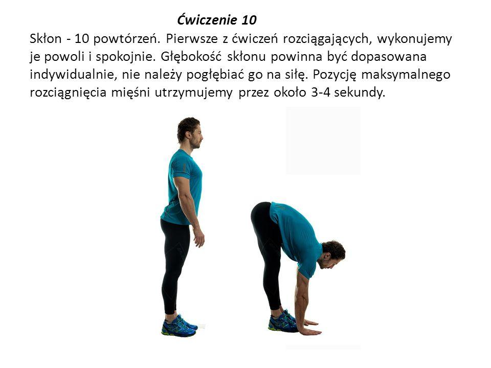 Ćwiczenie 10 Skłon - 10 powtórzeń