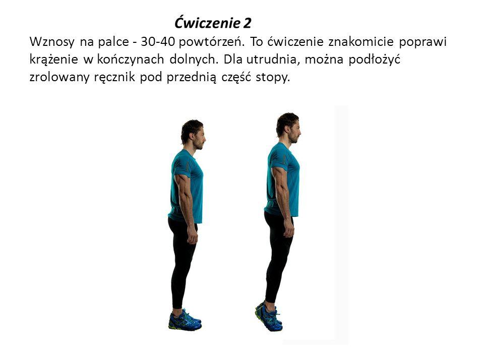 Ćwiczenie 2 Wznosy na palce - 30-40 powtórzeń
