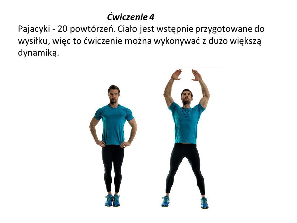 Ćwiczenie 4 Pajacyki - 20 powtórzeń