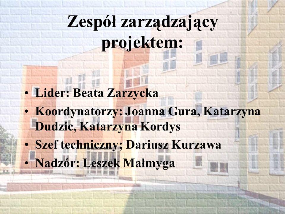 Zespół zarządzający projektem: