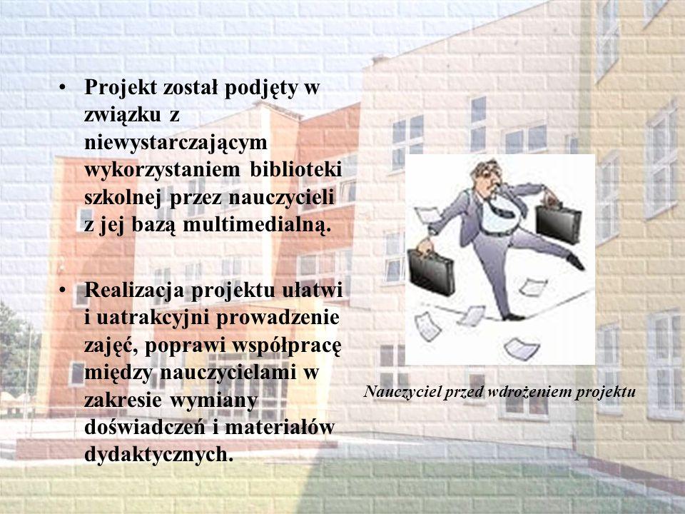 Nauczyciel przed wdrożeniem projektu