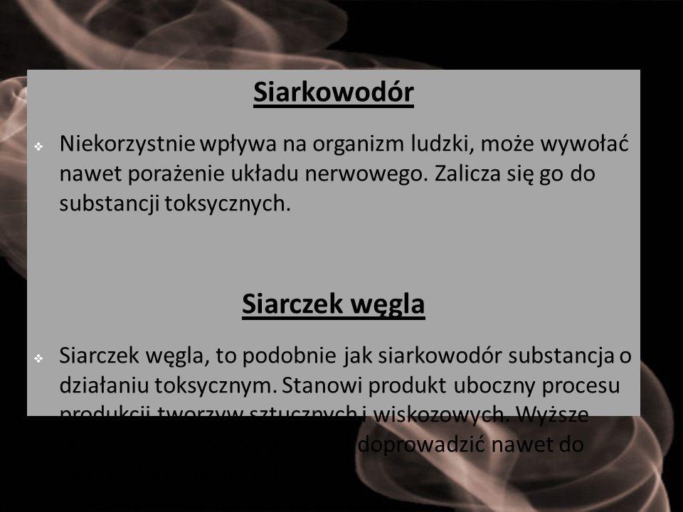 Siarkowodór Siarczek węgla