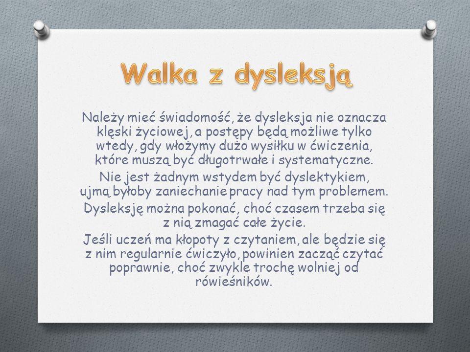 Walka z dysleksją