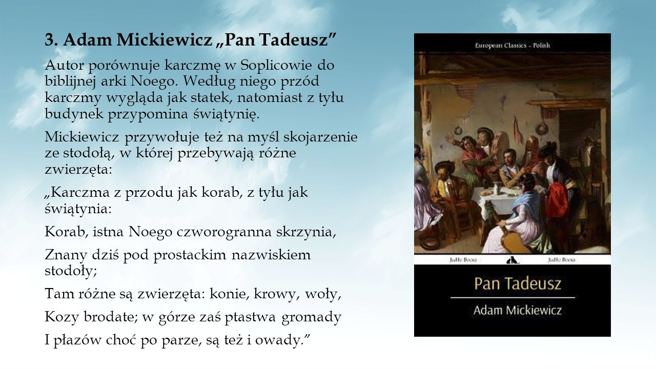 """3. Adam Mickiewicz """"Pan Tadeusz"""