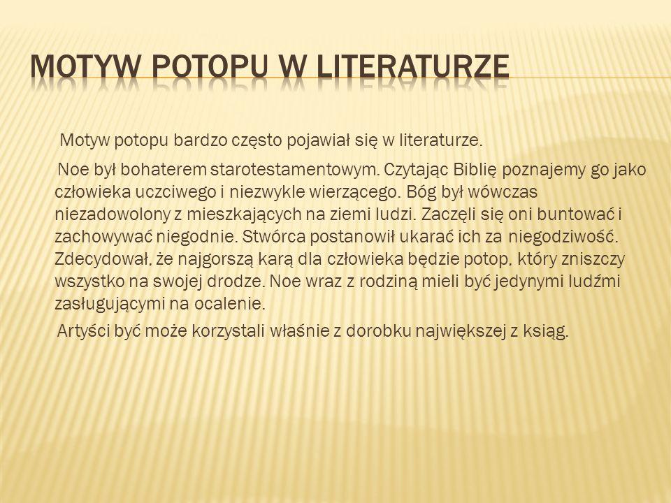 Motyw potopu w literaturze