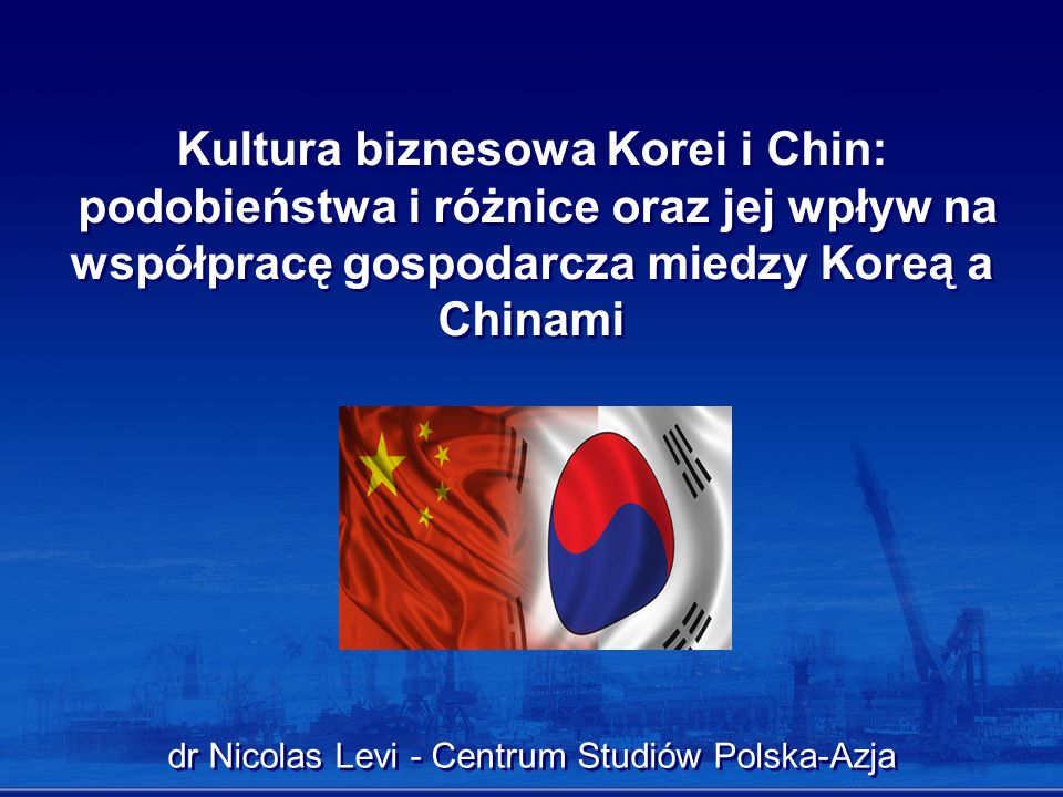 dr Nicolas Levi - Centrum Studiów Polska-Azja
