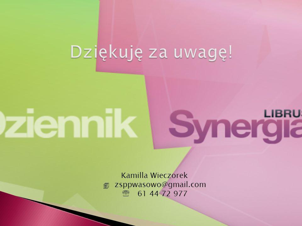 Dziękuję za uwagę! Kamilla Wieczorek . zsppwasowo@gmail.com