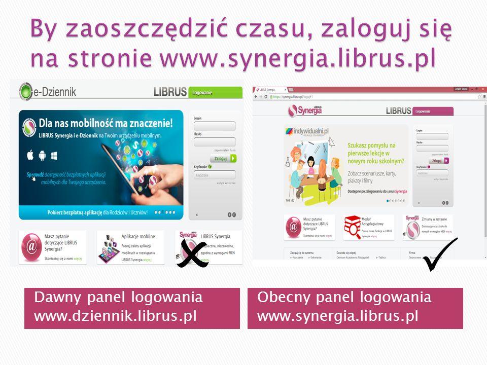 By zaoszczędzić czasu, zaloguj się na stronie www.synergia.librus.pl