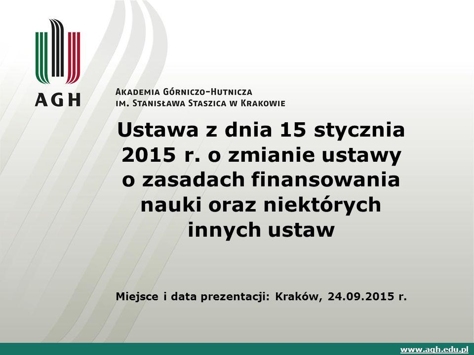 Ustawa z dnia 15 stycznia 2015 r