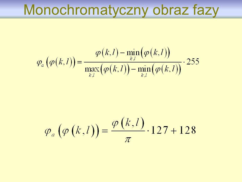 Monochromatyczny obraz fazy