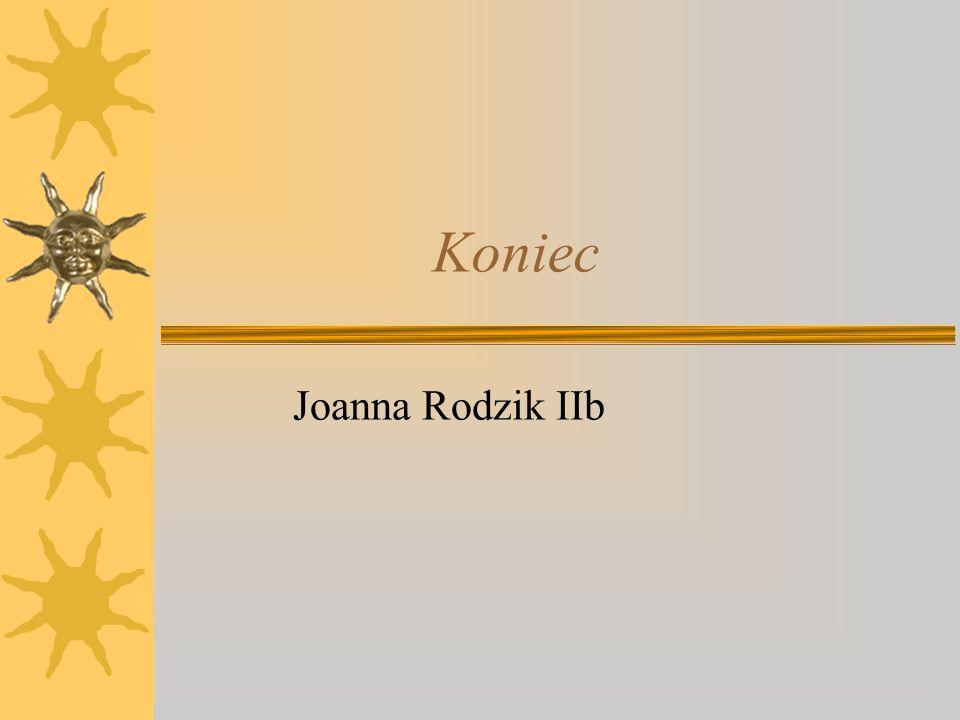 Koniec Joanna Rodzik IIb