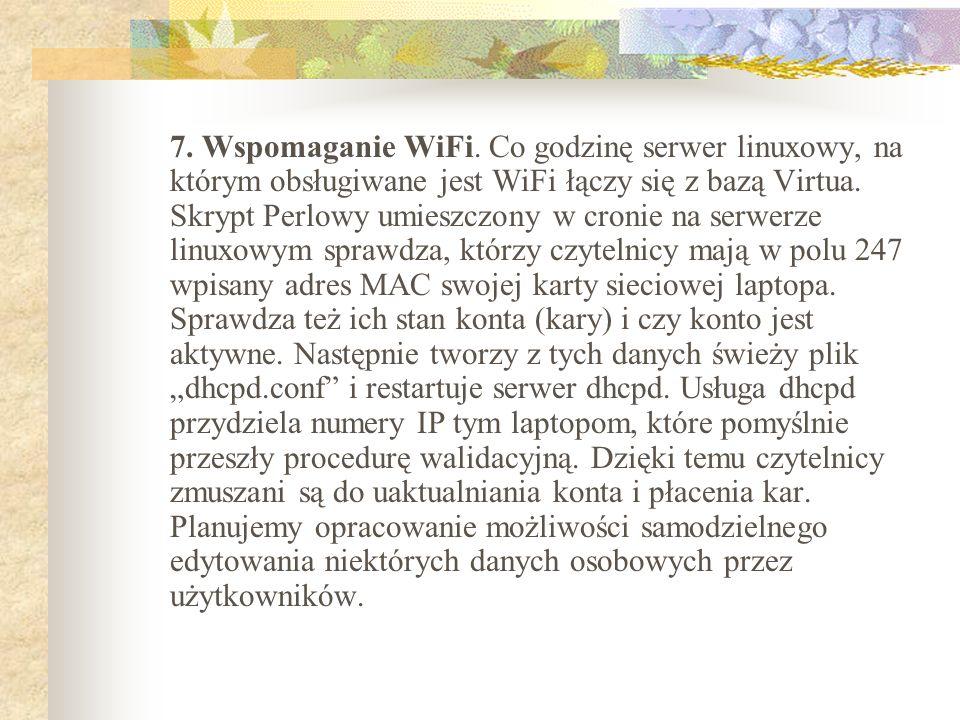 7. Wspomaganie WiFi.