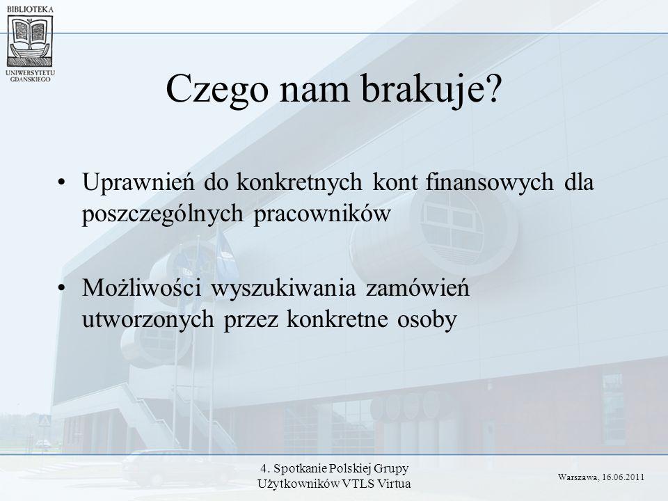 4. Spotkanie Polskiej Grupy Użytkowników VTLS Virtua