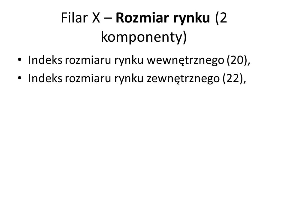 Filar X – Rozmiar rynku (2 komponenty)