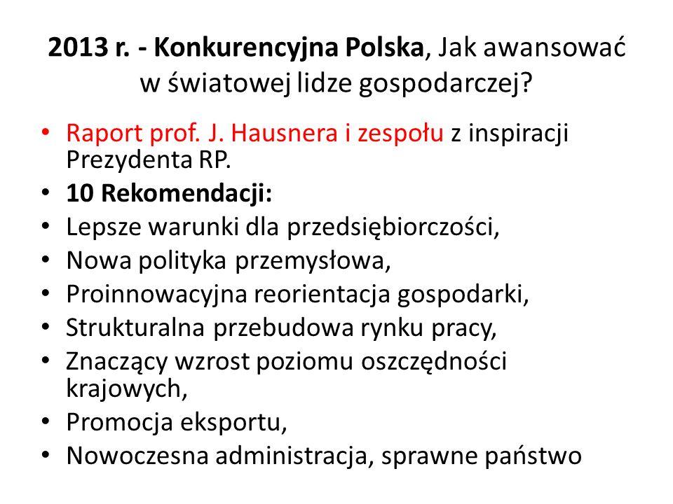 2013 r. - Konkurencyjna Polska, Jak awansować w światowej lidze gospodarczej