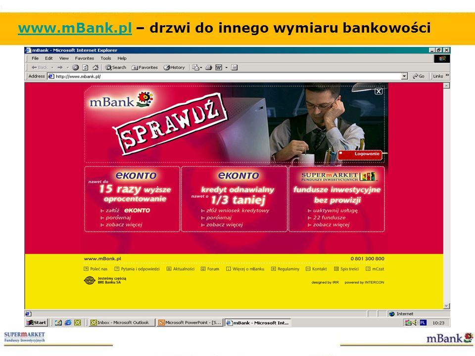 www.mBank.pl – drzwi do innego wymiaru bankowości