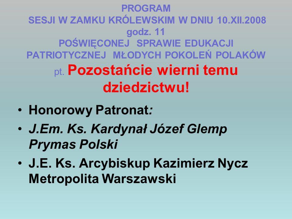 J.Em. Ks. Kardynał Józef Glemp Prymas Polski