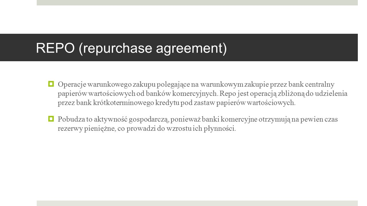 REPO (repurchase agreement)