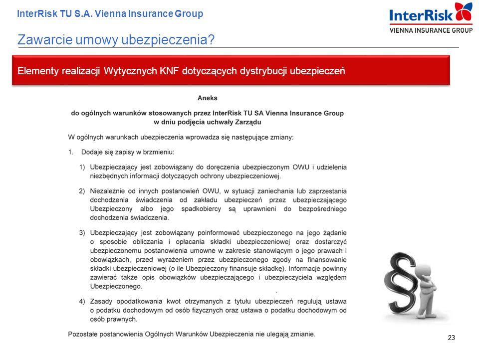 Zawarcie umowy ubezpieczenia