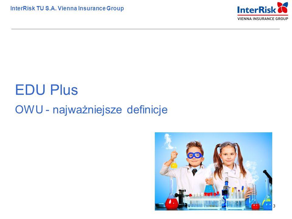EDU Plus OWU - najważniejsze definicje