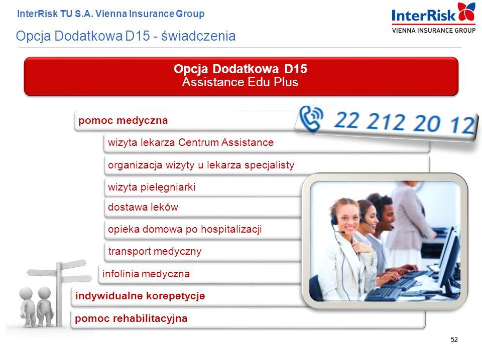 Opcja Dodatkowa D15 - świadczenia