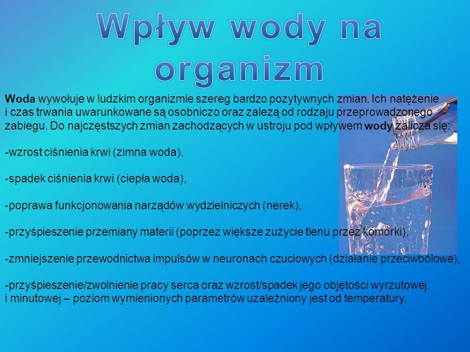 Wpływ wody na organizm