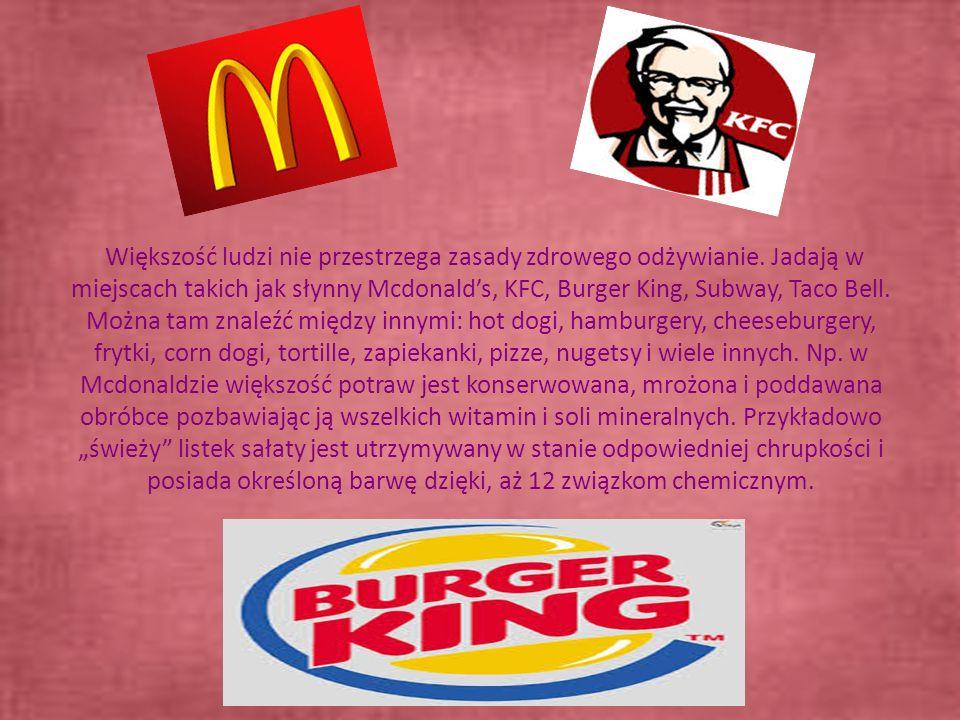 Większość ludzi nie przestrzega zasady zdrowego odżywianie