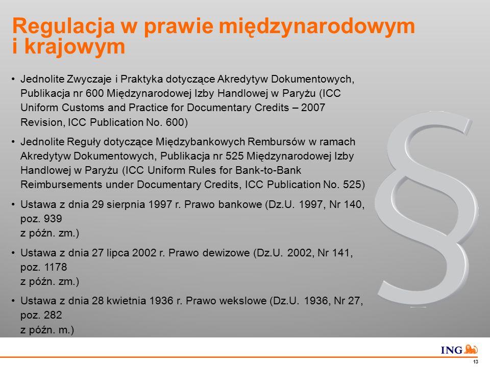 Akredytywa dokumentowa w ING BSK Pola w komunikacie SWIFT – MT 700