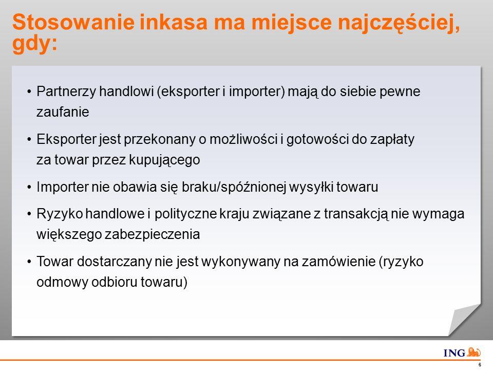 Inkaso dokumentowe (D/P) – schemat transakcji