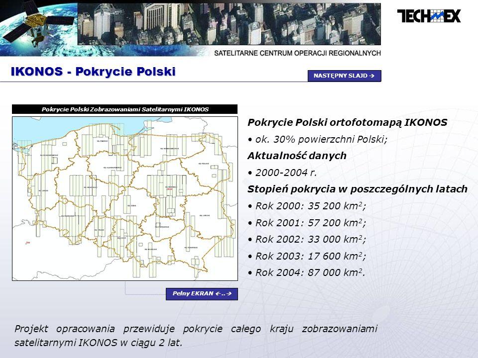 Pokrycie Polski Zobrazowaniami Satelitarnymi IKONOS