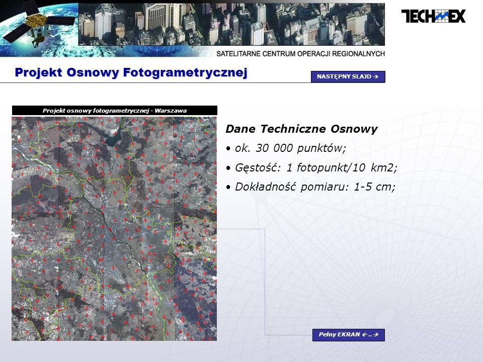 Projekt osnowy fotogrametrycznej - Warszawa
