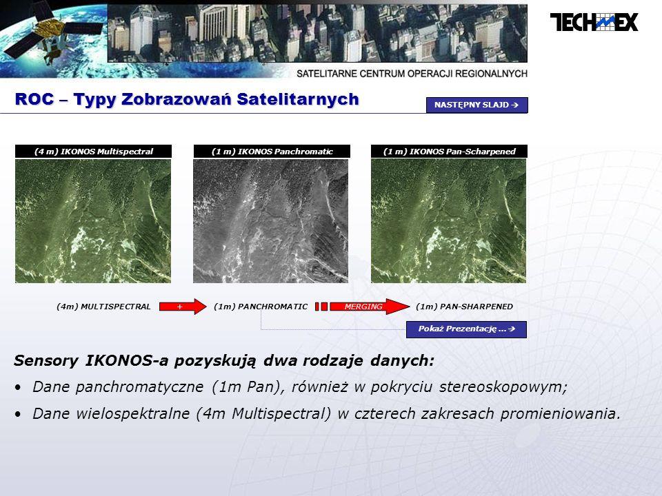 ROC – Typy Zobrazowań Satelitarnych