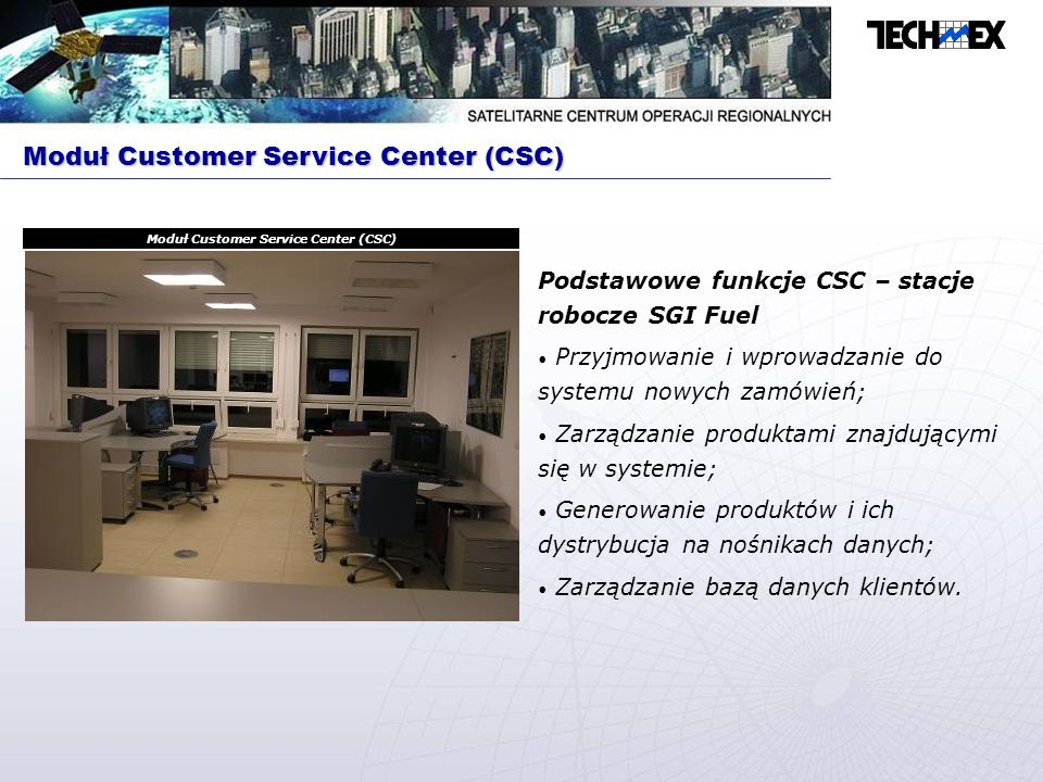 Moduł Customer Service Center (CSC)