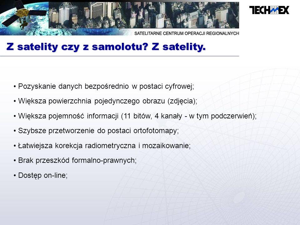 Z satelity czy z samolotu Z satelity.