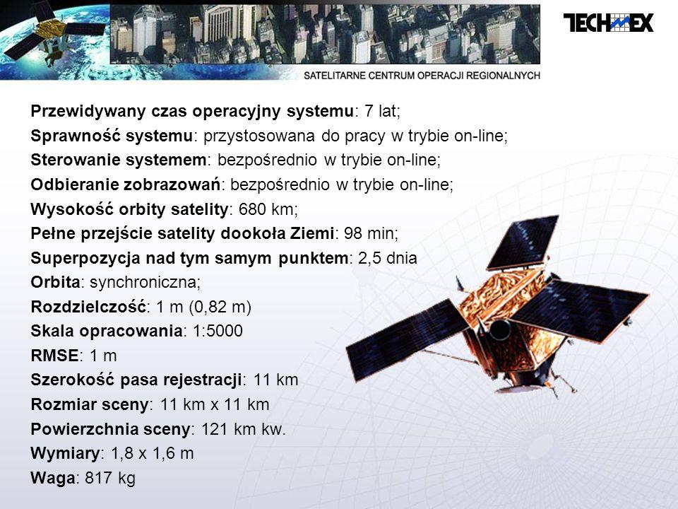 Przewidywany czas operacyjny systemu: 7 lat;