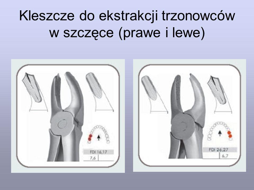 Kleszcze do ekstrakcji trzonowców w szczęce (prawe i lewe)