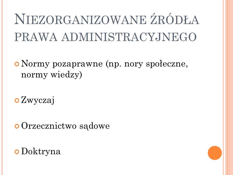 Niezorganizowane źródła prawa administracyjnego