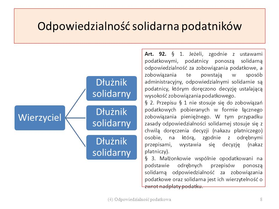 Odpowiedzialność solidarna podatników