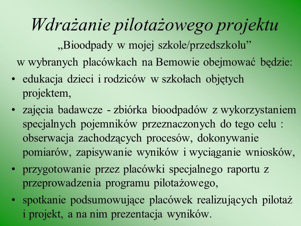 Wdrażanie pilotażowego projektu