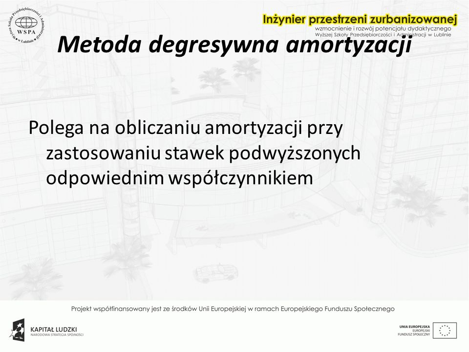 Metoda degresywna amortyzacji