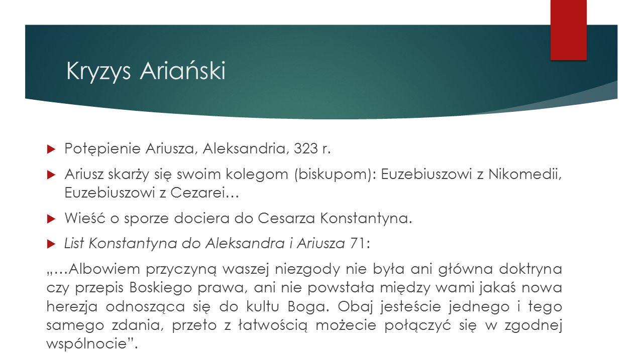 Kryzys Ariański Potępienie Ariusza, Aleksandria, 323 r.