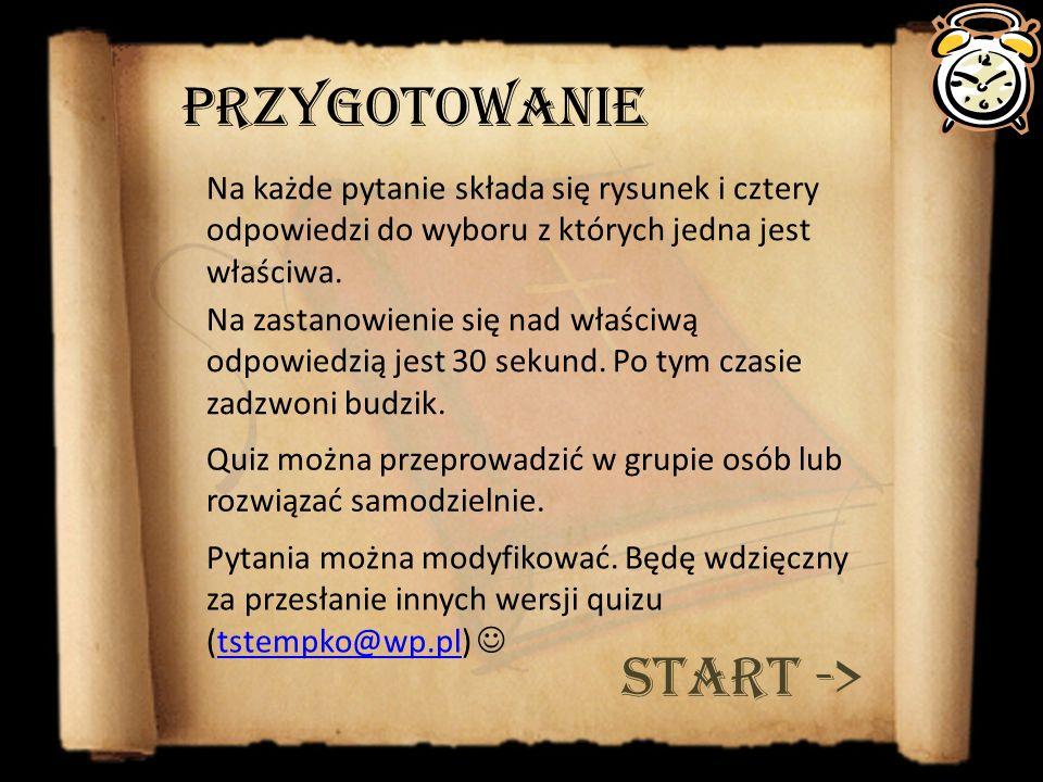 Przygotowanie START ->