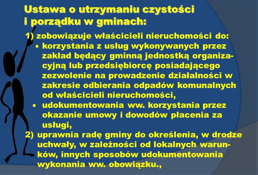 Ustawa o utrzymaniu czystości i porządku w gminach: