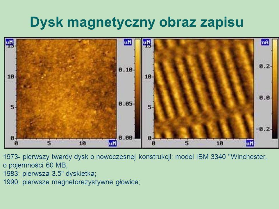 Dysk magnetyczny obraz zapisu