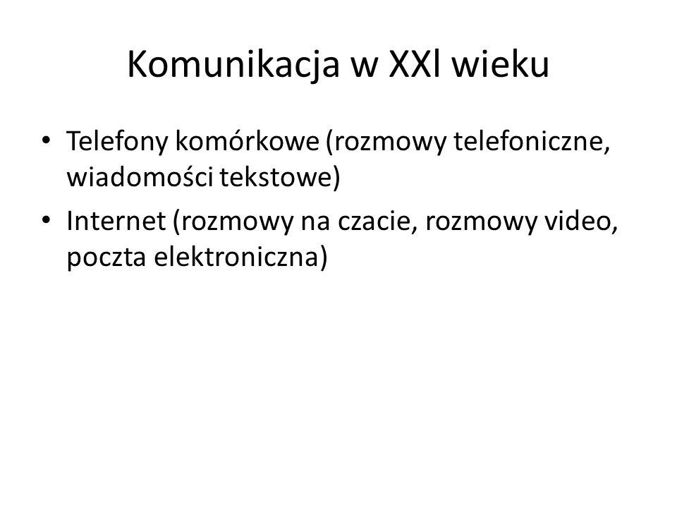 Komunikacja w XXl wieku