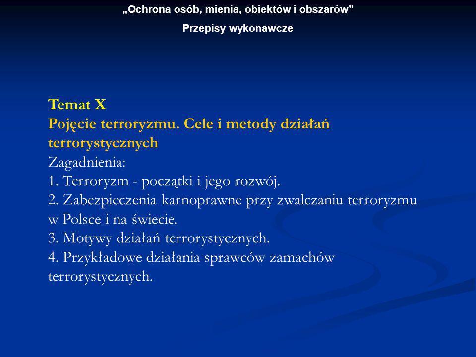 """""""Ochrona osób, mienia, obiektów i obszarów"""