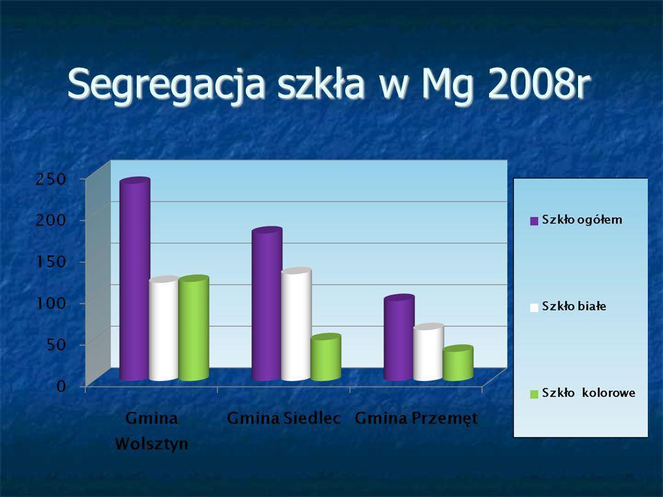 Segregacja szkła w Mg 2008r