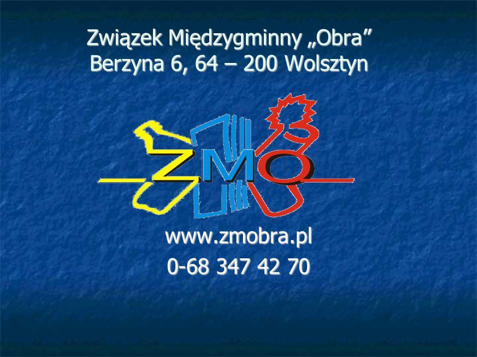 """Związek Międzygminny """"Obra Berzyna 6, 64 – 200 Wolsztyn"""